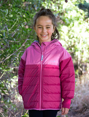 Hydracloud Puffer Jacket - Cherry | Waterproof Windproof Eco