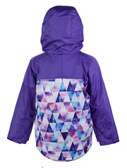 Waterproof & Windproof Snowrider Ski Jacket - Purple Geo