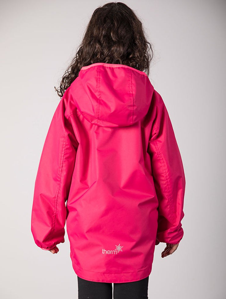 Waterproof & Windproof SplashMagic Rainshell - Rose Red