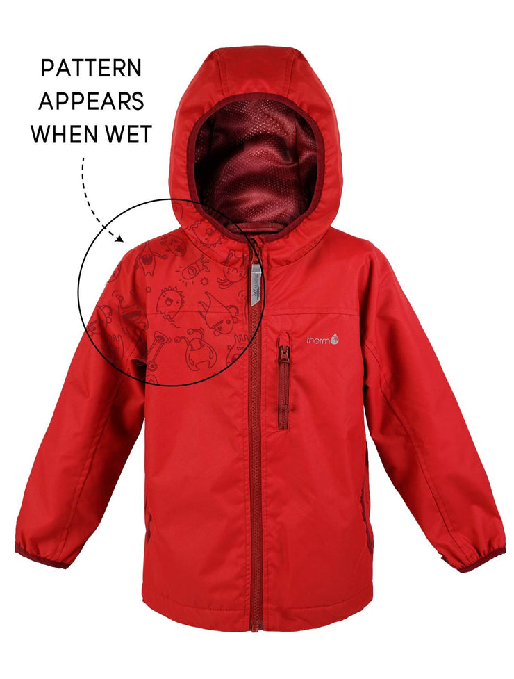 Waterproof & Windproof SplashMagic Rainshell - Samba Red