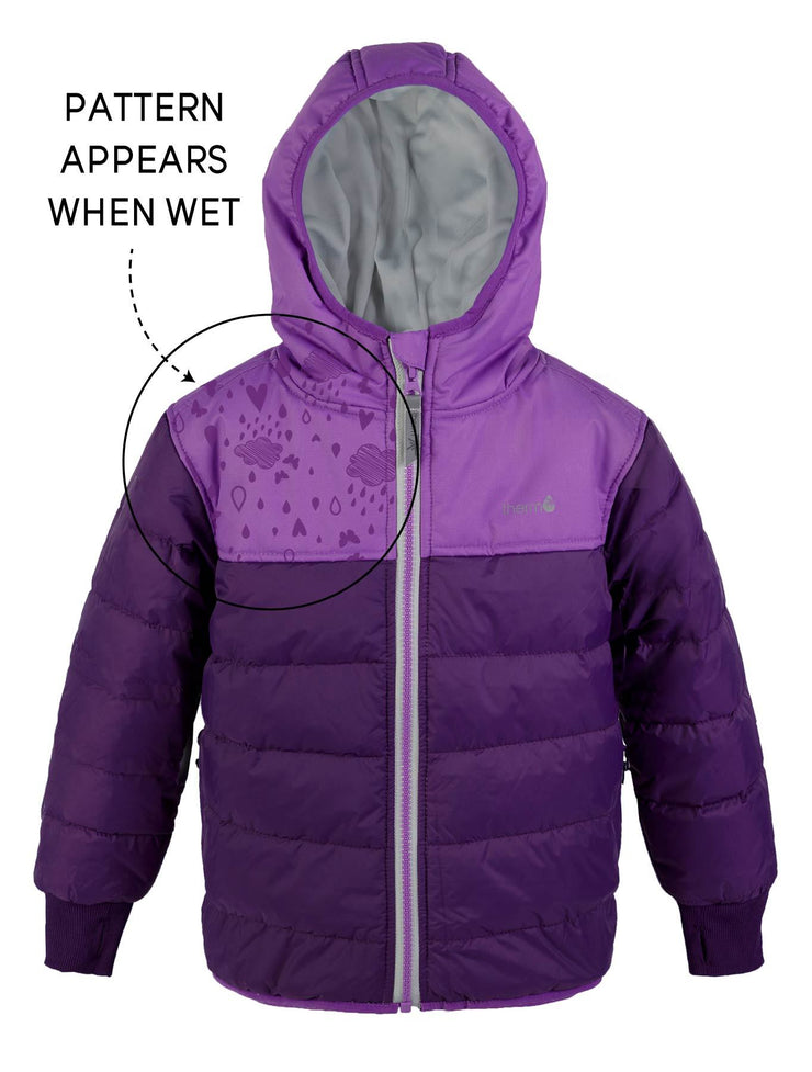 Waterproof and Windproof Hydracloud Puffer Jacket - Deep Purple