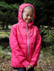 Waterproof and Windproof Hydracloud Puffer Jacket - Rose Red