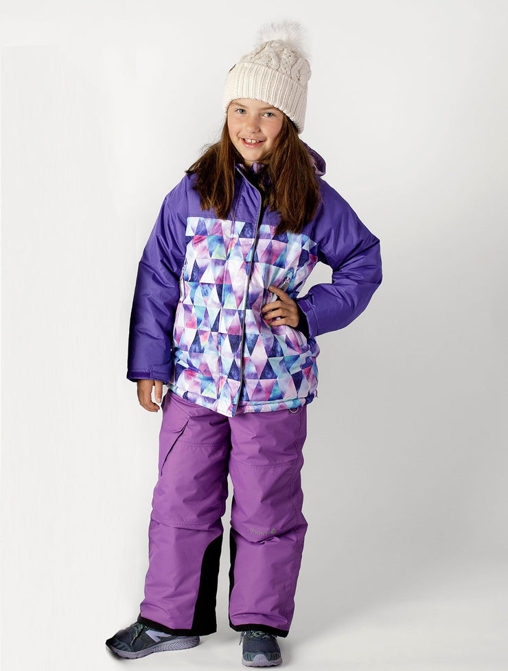 Waterproof Snowrider Ski Overalls - Insulated - Violet