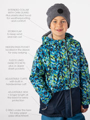 Snowrider Ski Jacket - Abstract Geo | Waterproof Windproof Eco