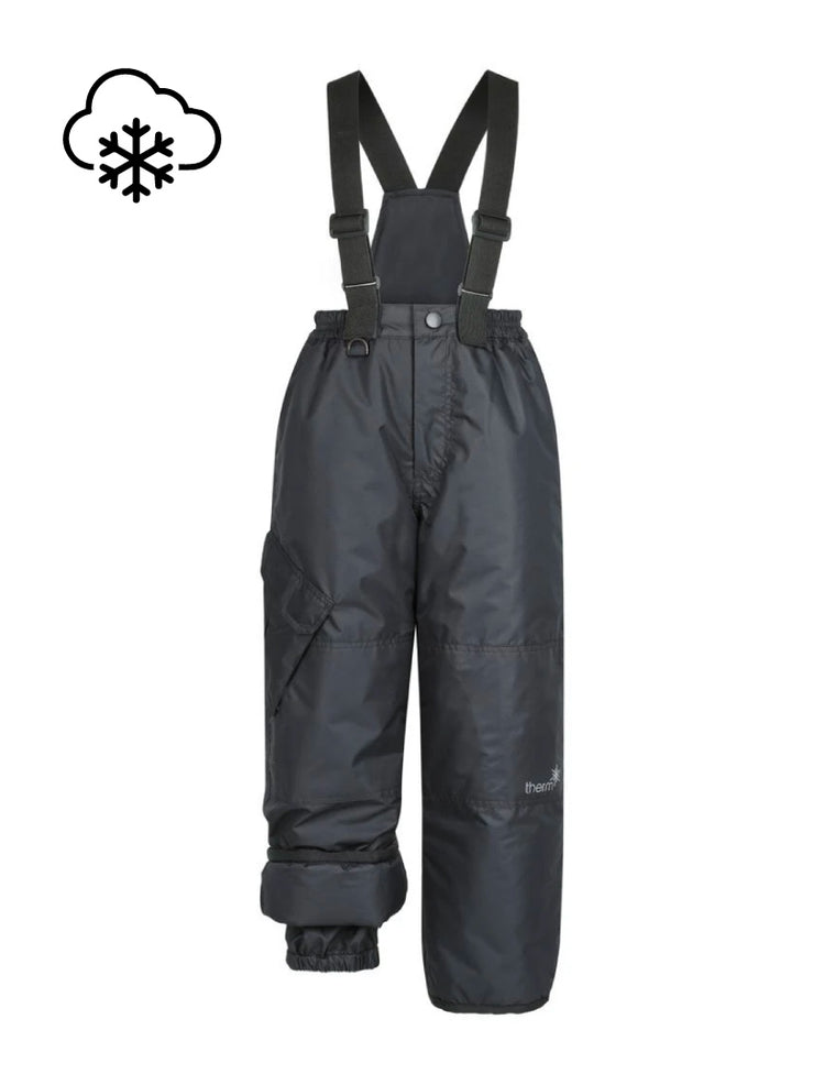 Snowrider Ski Overalls - Black | Waterproof Windproof Eco