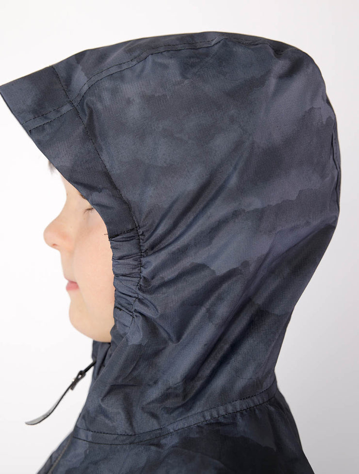 10K Packaway Rainshell - Black Mountain | Waterproof Windproof Eco