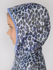 All-Weather Hoodie - Blue Leopard | Waterproof Windproof Eco