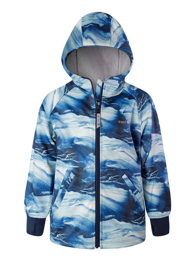 All-Weather Hoodie - Blue Wave | Waterproof Windproof Eco