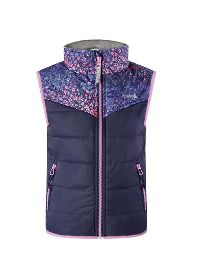 Hydracloud Puffer Vest - Winter Blossom | Waterproof Windproof Eco