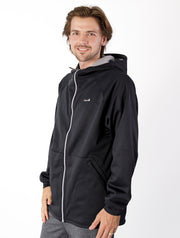 All-Weather Hoodie - Black | Waterproof Windproof Eco - Mens