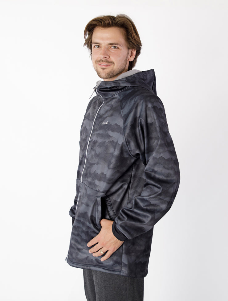 All-Weather Hoodie - Black Mountain | Waterproof Windproof Eco - Mens