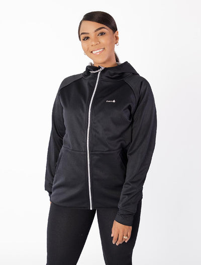 All-Weather Hoodie - Black | Waterproof Windproof Eco - Ladies