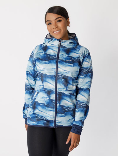 All-Weather Hoodie - Blue Wave | Waterproof Windproof Eco - Ladies