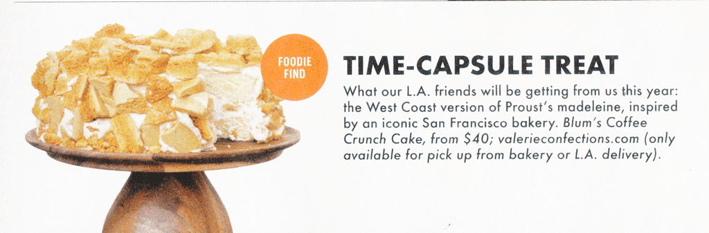 Time Capsule Treat - Blum's Coffee Crunch Cake
