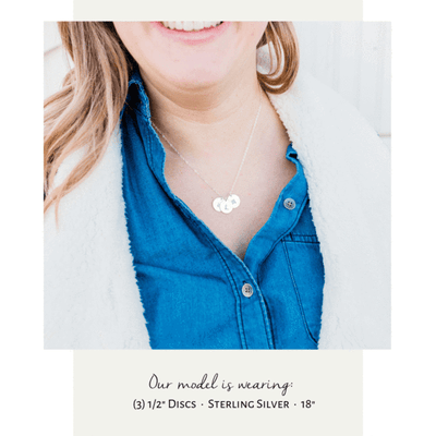 Words By Heart:Personalized Floral Initial Disc Necklace:Asheville, NC