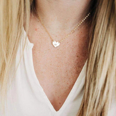 Words By Heart:Dainty Heart Necklace:Asheville, NC