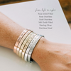 Words By Heart:Grace Upon Grace (with leaves), Cuff Bracelet:Asheville, NC