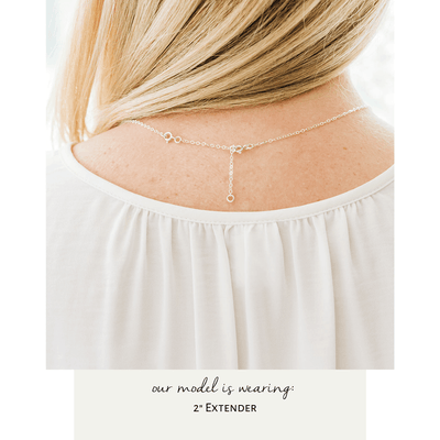 Words By Heart:Elegant Initial Disc Necklace:Asheville, NC