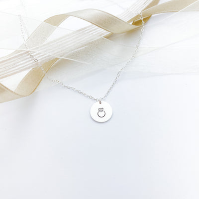 "Words By Heart:Diamond Ring, 1'2"" Disc Necklace:Asheville, NC"