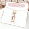 Words By Heart:Personalized Keepsake Pendant Necklace:Asheville, NC