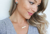 Choose Joy (with heart), Horizontal Bar Necklace