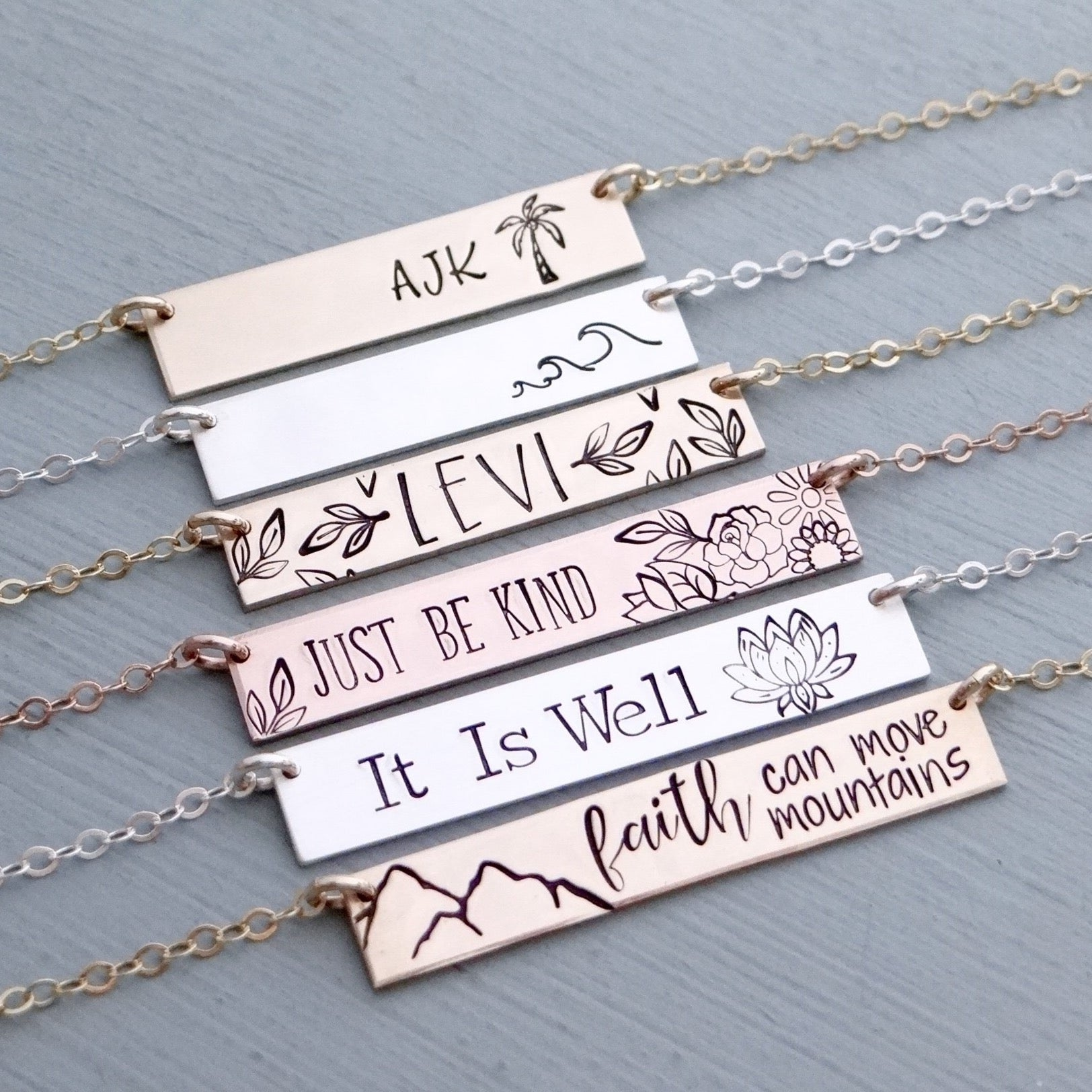 Create Your Own (Standard Size) Personalized Bar Necklace