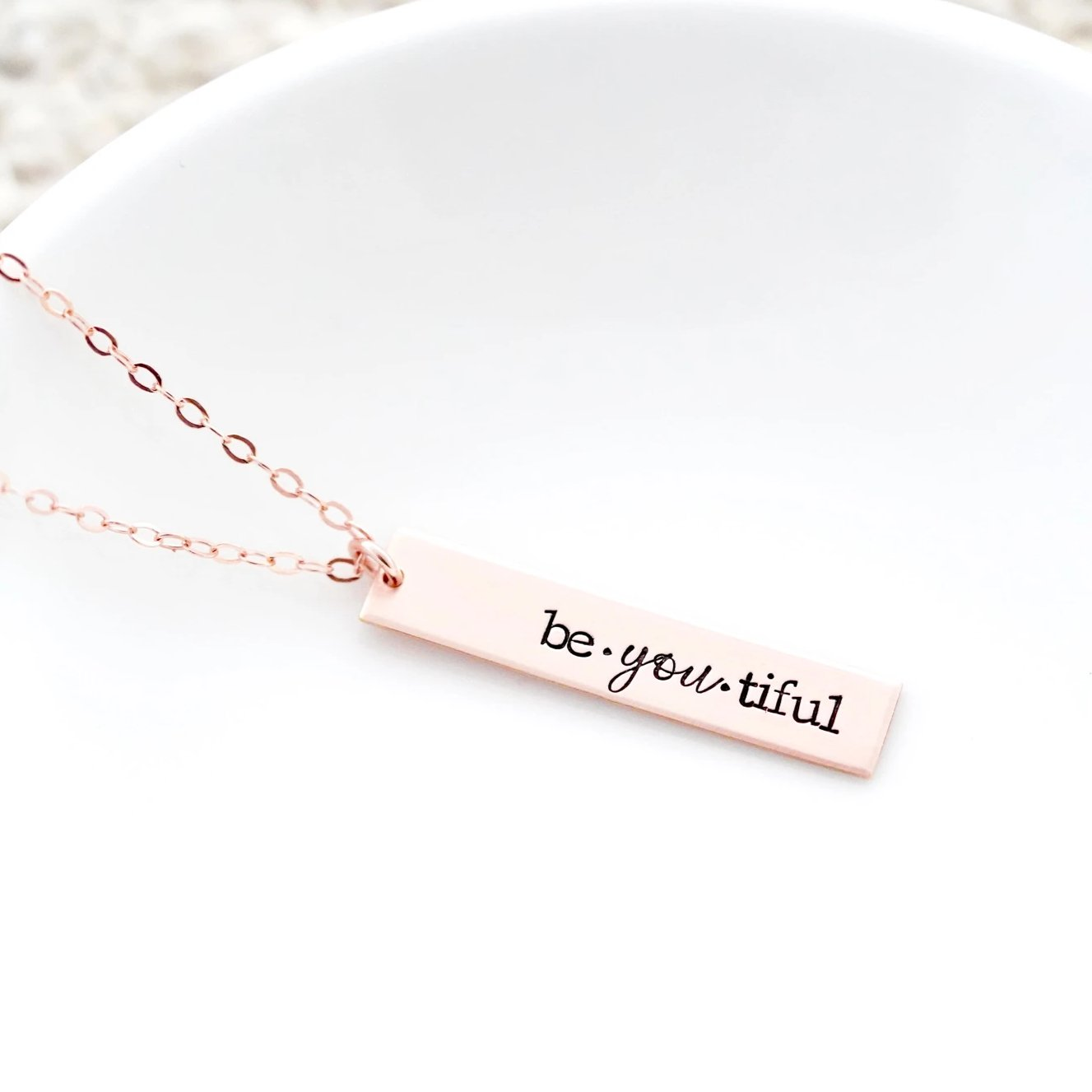 Be-you-tiful, Vertical Bar Necklace