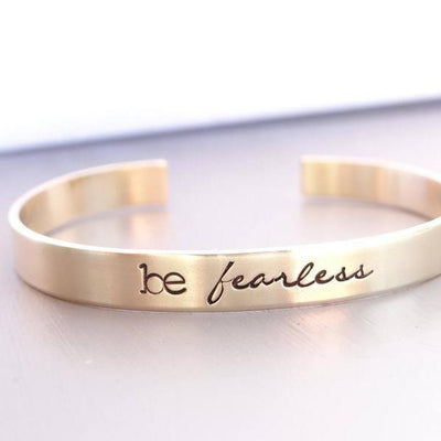 Words By Heart:Be Fearless, Cuff Bracelet:Asheville, NC