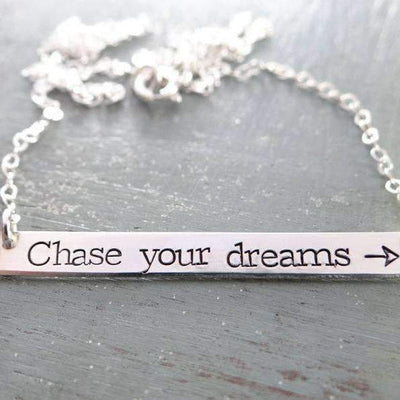 Words By Heart:Chase Your Dreams (with arrow), Large Thin Horizontal Bar:Asheville, NC