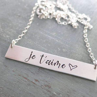 Je T/'aime Charm I Love You in French Charm I Love You in French Pendant Je T/'aime Pendant Sterling Silver Je T/'aime I Love You Charm