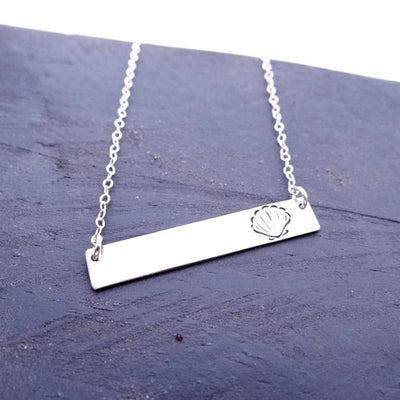 Words By Heart:Shell, Horizontal Bar Necklace:Asheville, NC