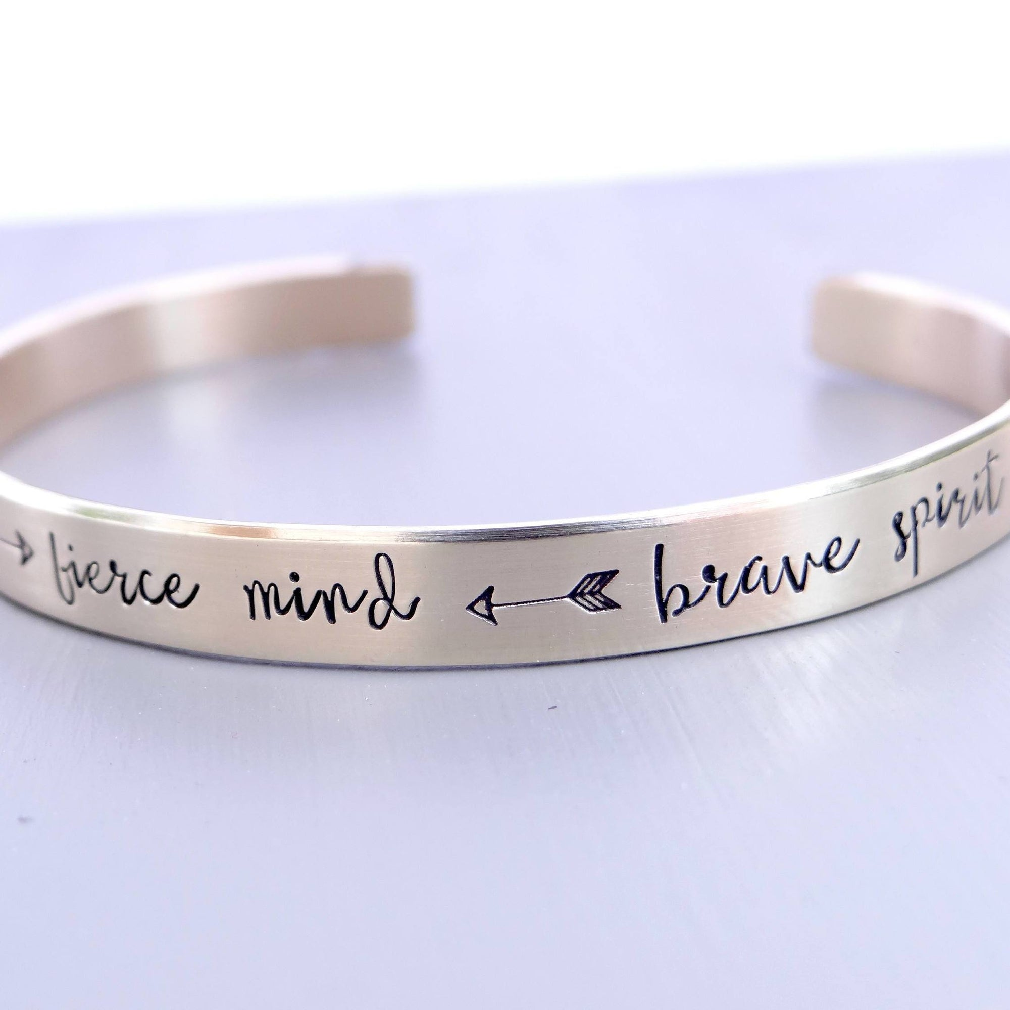 Words By Heart:Kind Heart, Fierce Mind, Brave Spirit, Cuff Bracelet:Asheville, NC