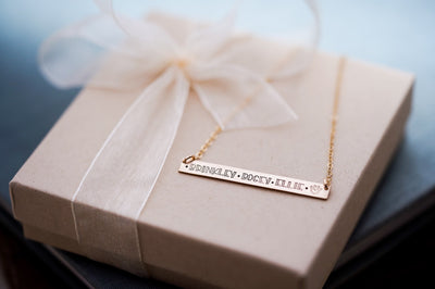 Personalized Pet Name Bar Necklace