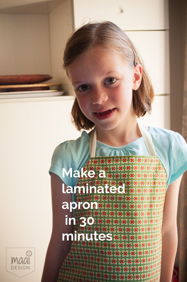 How to sew an apron for kids in 30 minutes