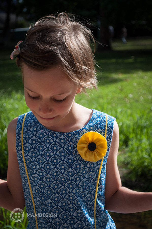 Sewing a new summer dress with the Tic Tac Toe pattern by Sewpony + a discount code!