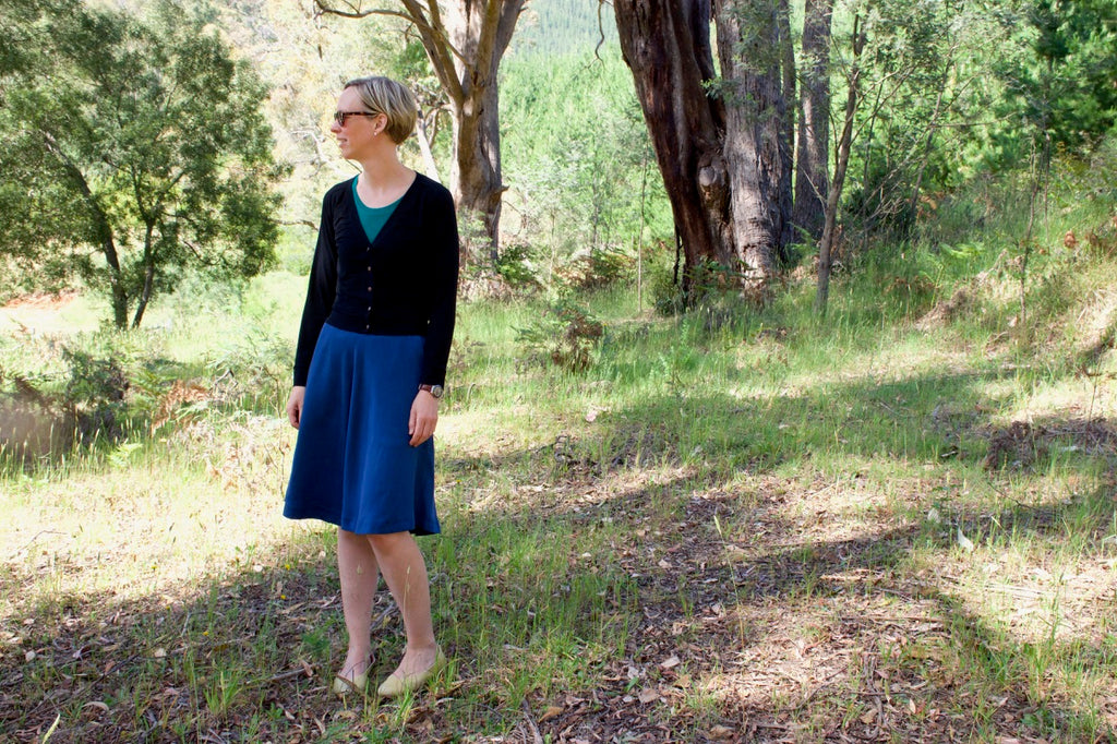 About bamboo tops, a Tencel Wattle Skirt and a Juniper Cardigan