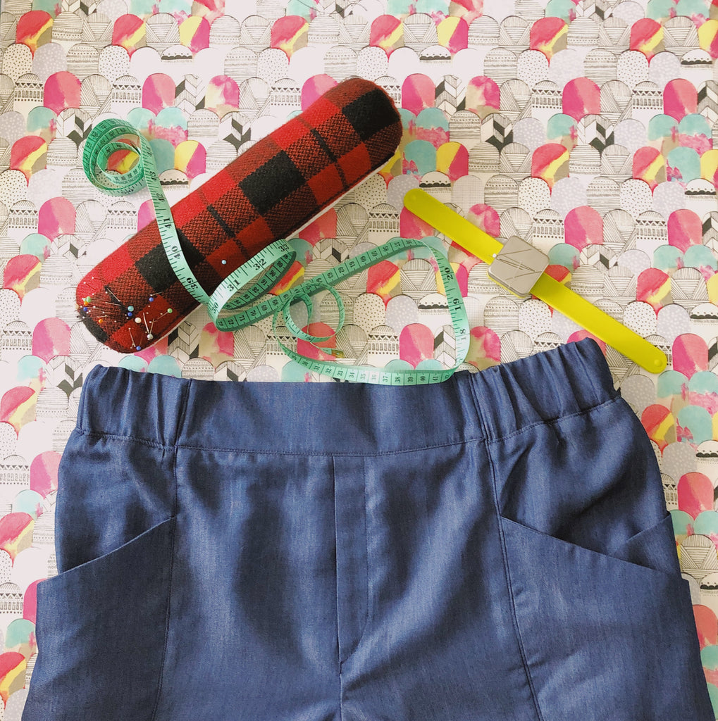 An exercise in luxury | sewing with Tencel Denim