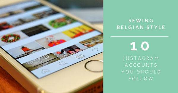 10 Belgian sewing instagram accounts to follow