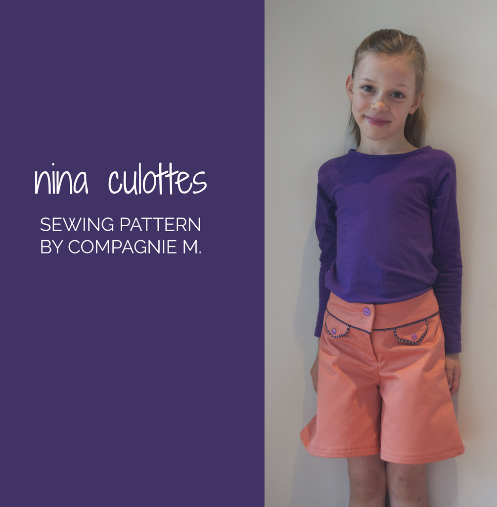 Nina culottes, sewing pattern by Compagnie M - maaidesign blog