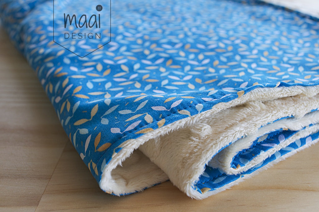 Sewing a minky blanket, MaaiDesign blog