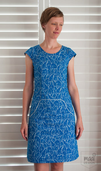 Louisa dress, pattern by Compagnie M, MaaiDesign blog