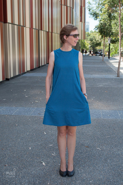 The Rushcutter dress in Soft Cactus Fabric - MaaiDesign blog
