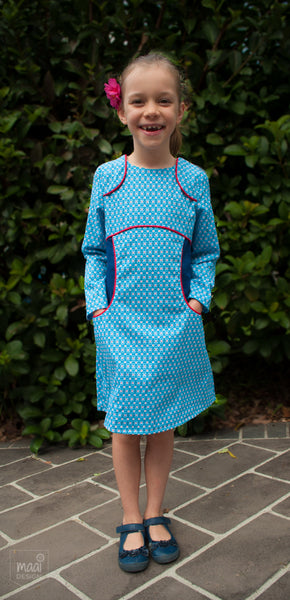 Miss Polly dress in Soft Cactus Fabric