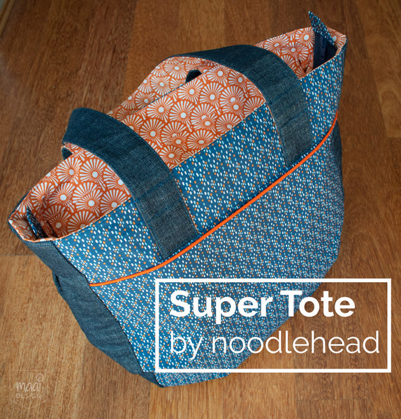 Super Tote by Noodlehead in Soft Cactus fabric - MaaiDesign Blog