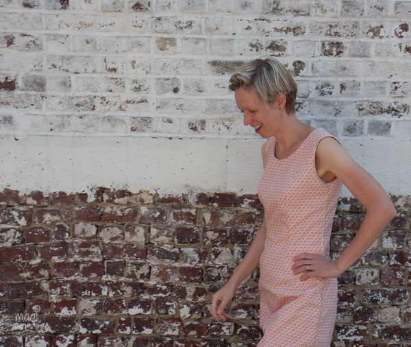 Louisa dress in Soft Cactus fabric - Maaidesign blog