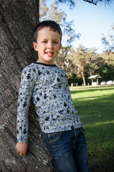 sewing for boys with Zonen09 fabric - MaaiDesign Blog