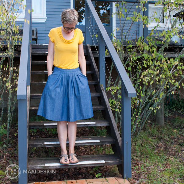Pleated skirt - pattern from Peppermint Magazine - MaaiDesign blog