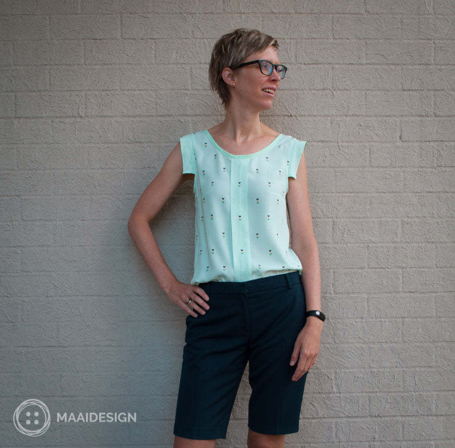 Sorbetto top by Colette Patterns - MaaiDesign blog