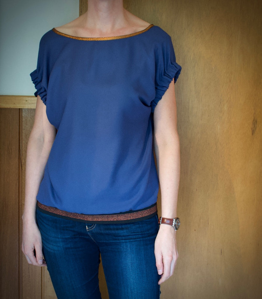 Frances top, sewing pattern by Fibre Mood, MaaiDesign Blog