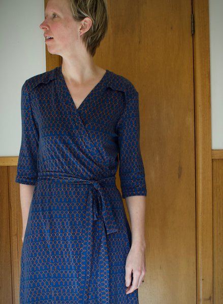 5 Wrap Dress Sewing Patterns For Knit Fabrics Maaidesign